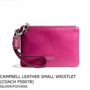 NWT Coach Fuchsia Wristlet